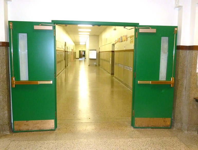 ... is the hallway behind the gym where the 2013 fire at Mitchel Elementary School started at 2 am. When the fire was detected these fire doors closed. & Safety u0026 Security (home analogy) - u0027Yesu0027 for Racine Schools